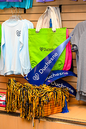 Duchesne bag, clothes, pennants