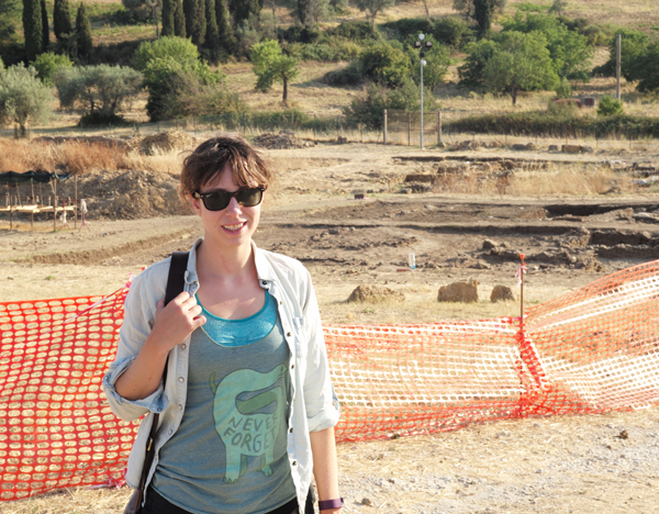 Emma at Archeological Site